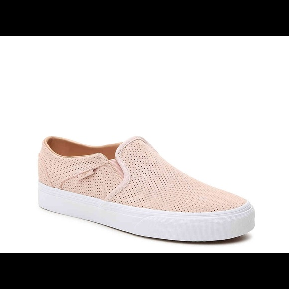 156e4eefe2 Vans perforated rose gold suede Asher slip on 7. M 5b3d0eff3c98440f740a56ba